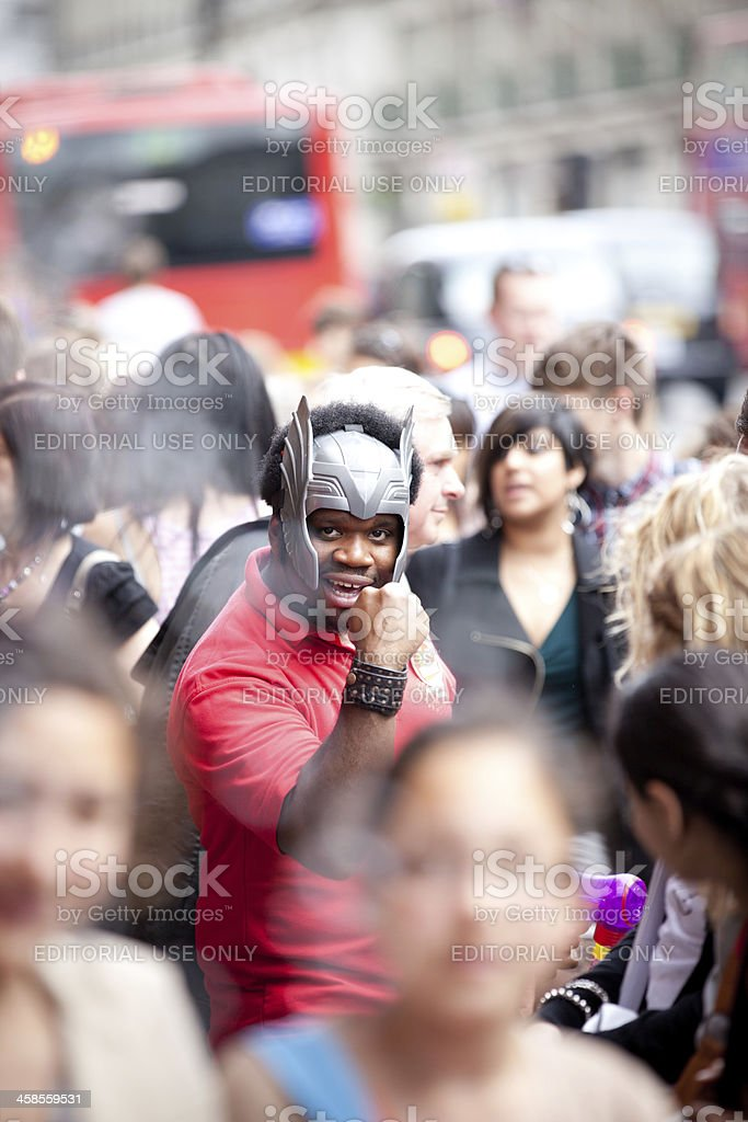 Employee in costume royalty-free stock photo