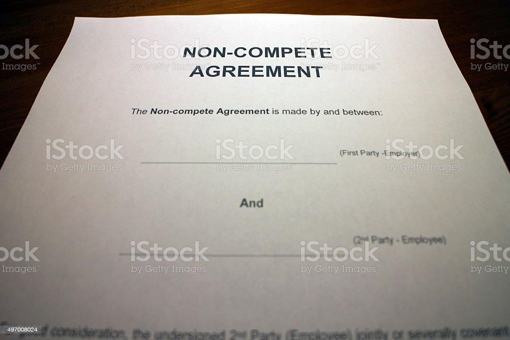 Employee Non-compete Agreement stock photo