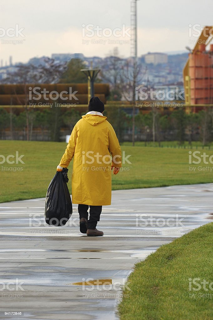 employee of park royalty-free stock photo