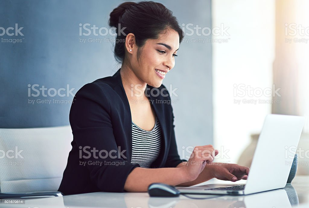 Employee of the month! stock photo