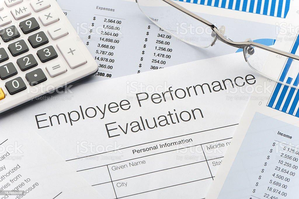 Employee Performance Evaluation Form royalty-free stock photo