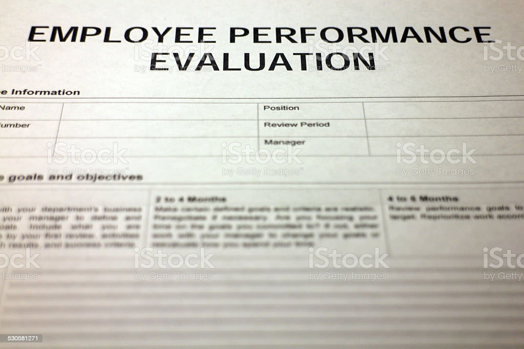 Employee Performance Evaluation Form Stock Photo 530581271 | Istock