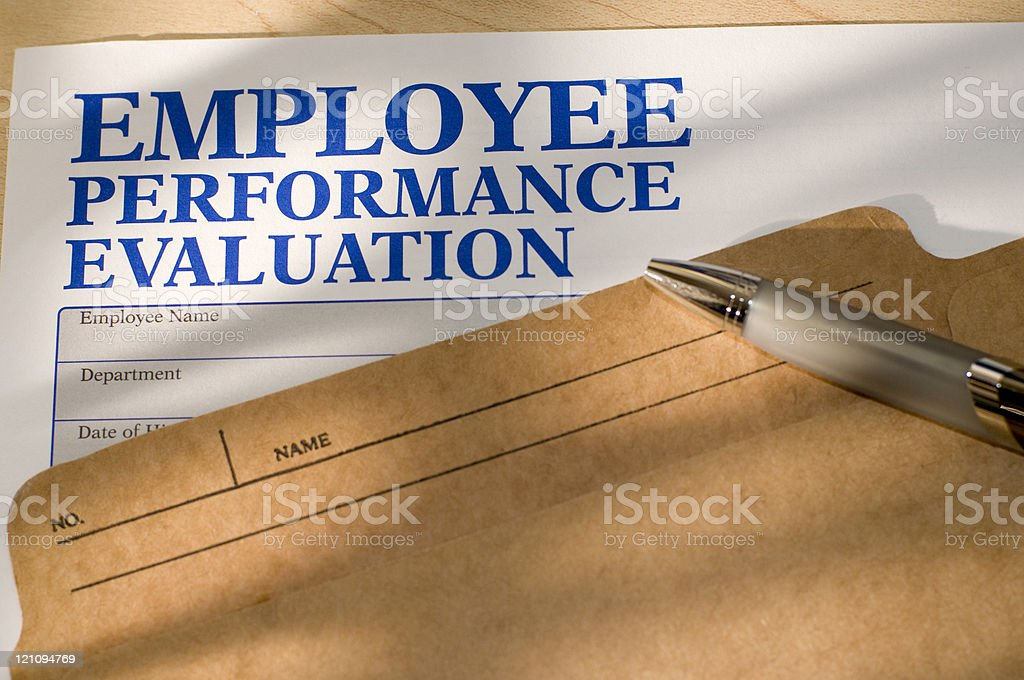Employee Performance Evaluation stock photo