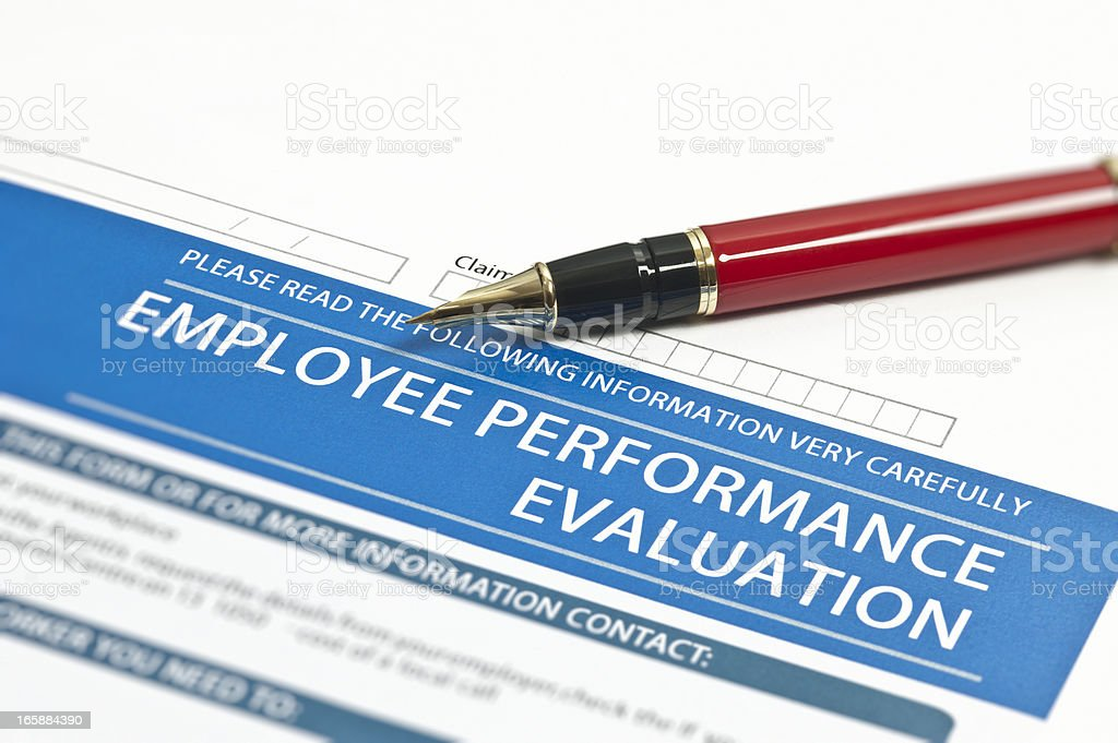 Employee Performance Evaluation stock photo