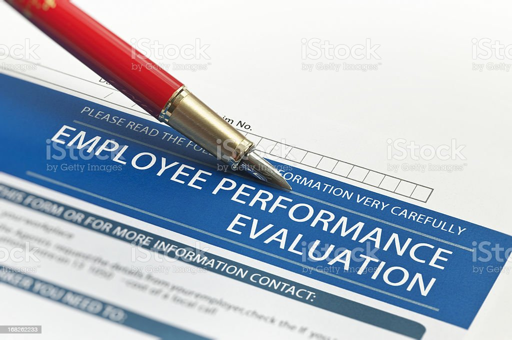 Employee Performance Evaluation royalty-free stock photo