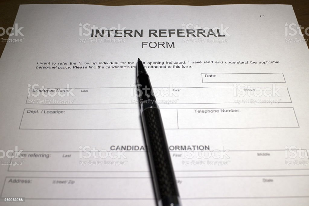 Intern Referral Form Pictures Images And Stock Photos  Istock