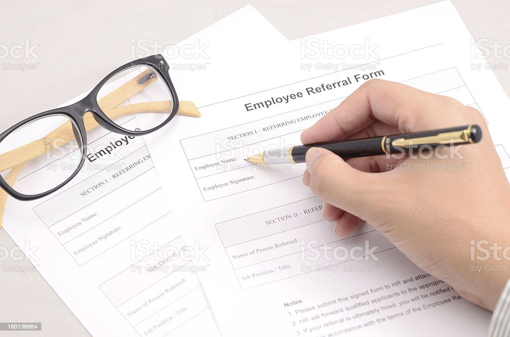 Referral Form Pictures Images And Stock Photos  Istock