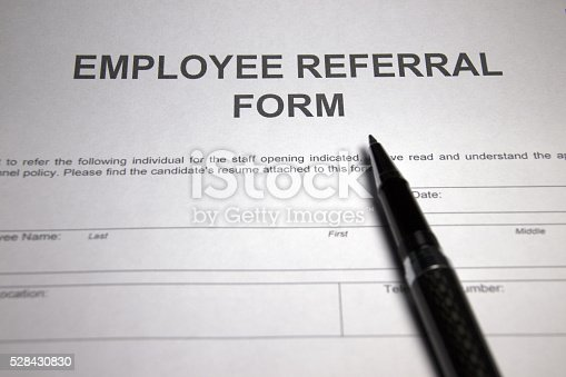 Employee Referral Form Stock Photo   Istock