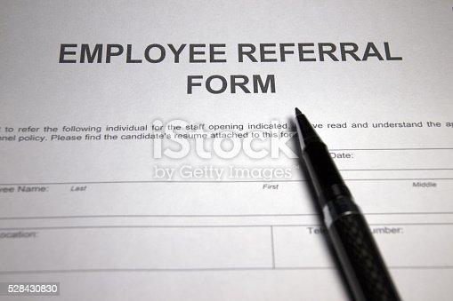 Employee Referral Form Stock Photo 528430830 | Istock