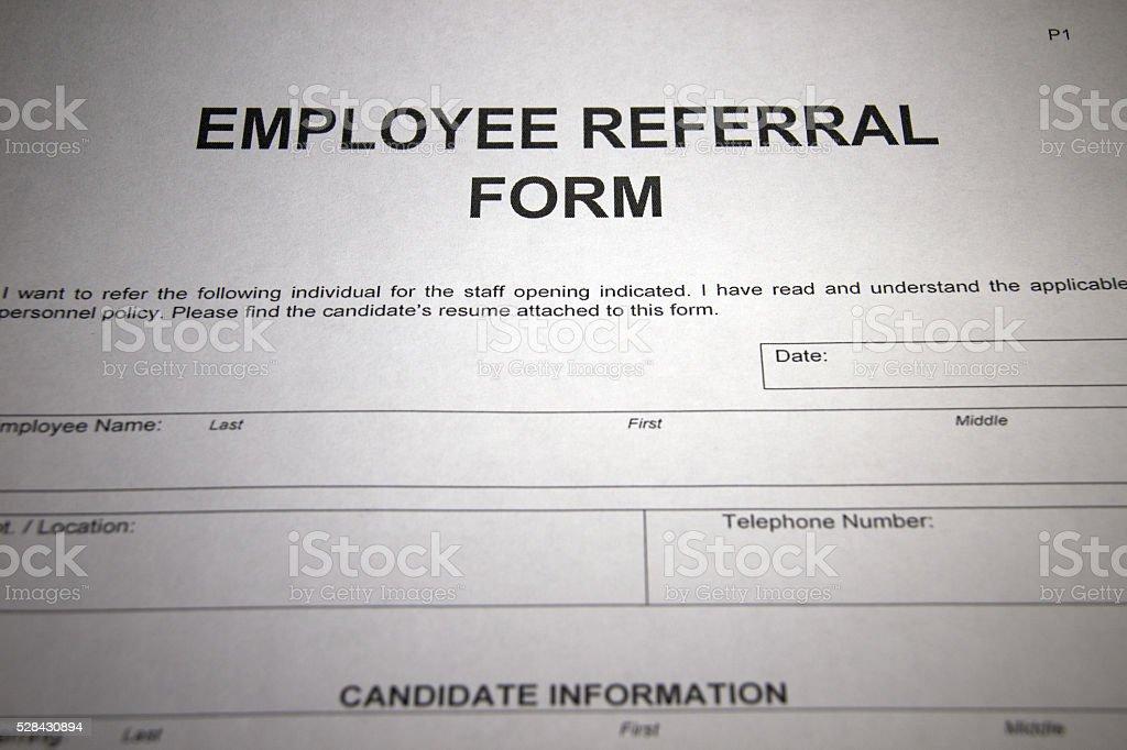 Employee Referral stock photo