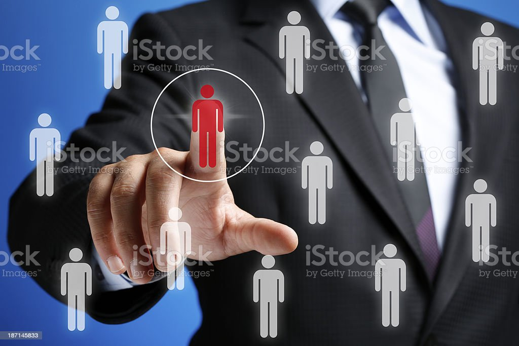 Employee Search Concept on Touch Screen royalty-free stock photo