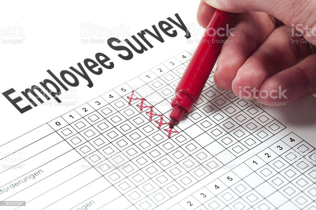 employee survey royalty-free stock photo