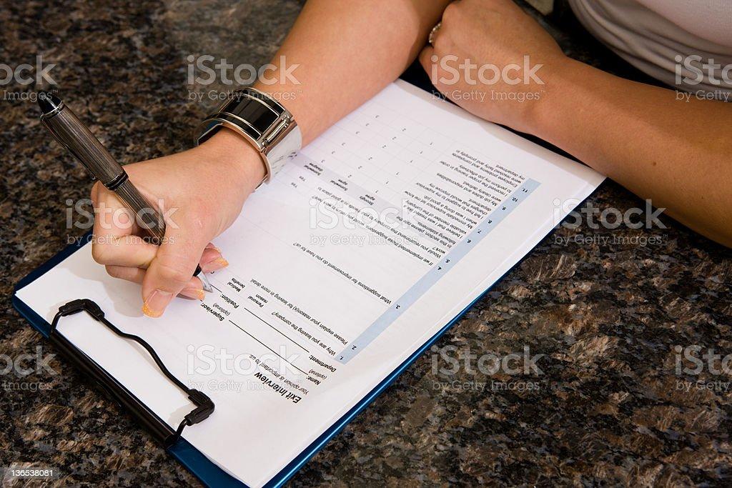Employee Termination Form stock photo