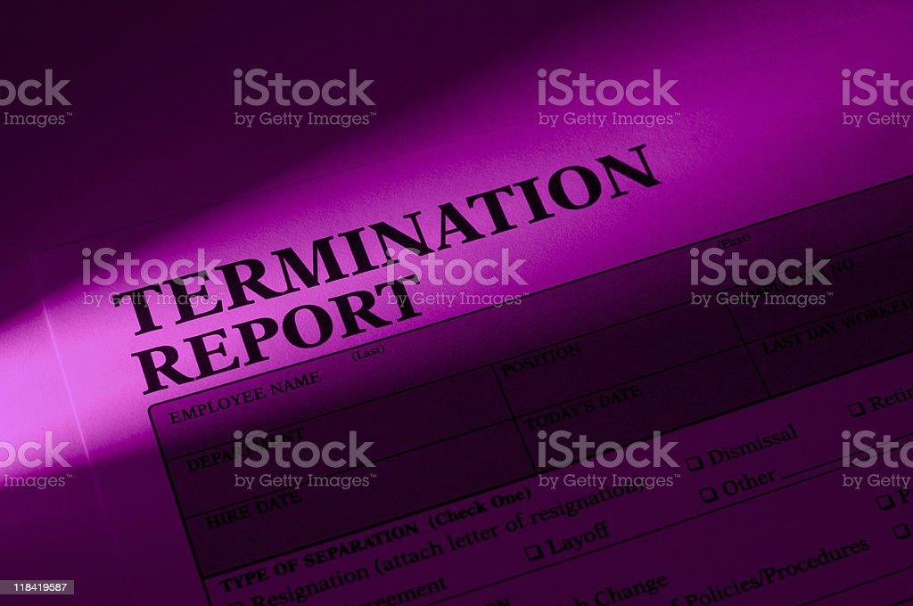 Employee Termination royalty-free stock photo
