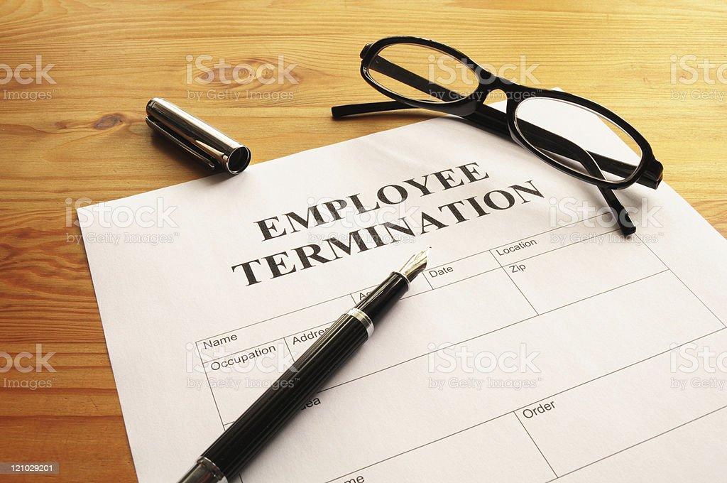 employee termination stock photo