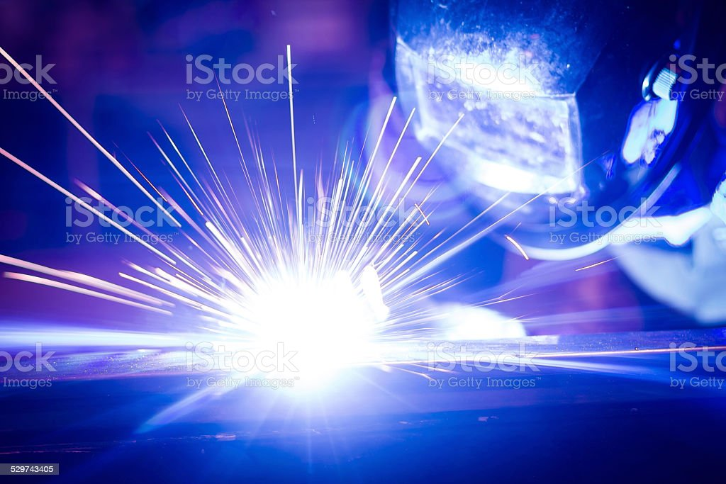 Employee welding. stock photo