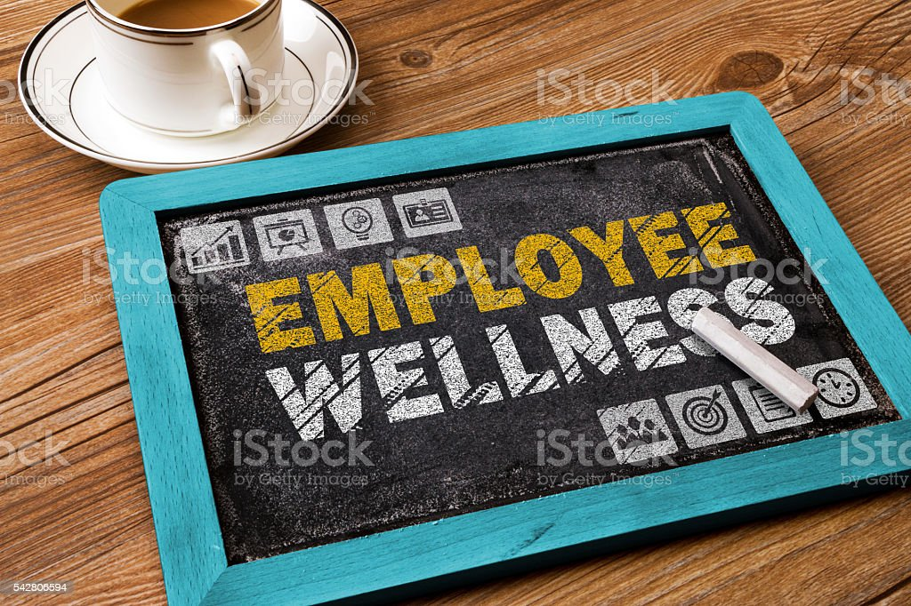 employee wellness concept stock photo