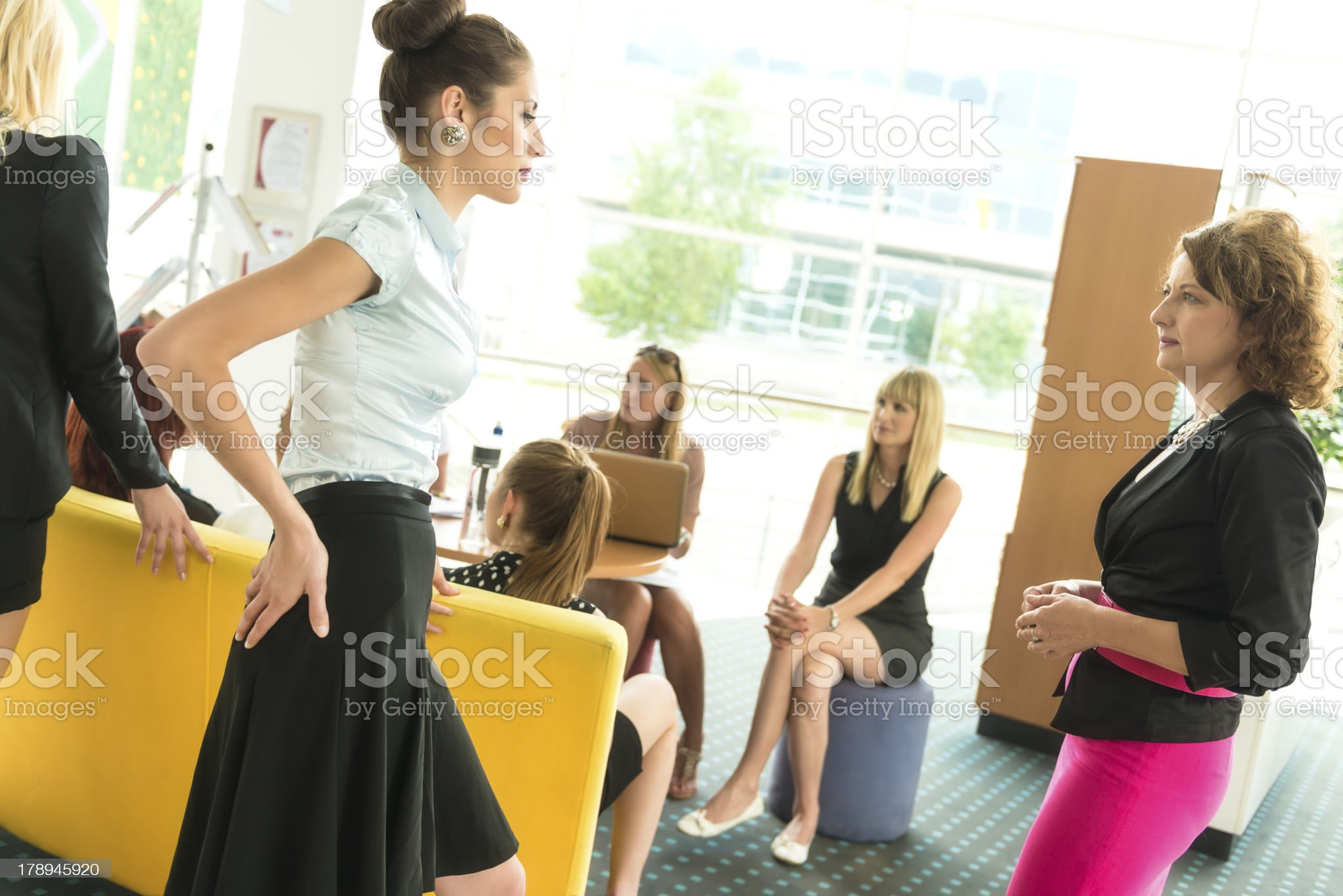 Employees at break royalty-free stock photo