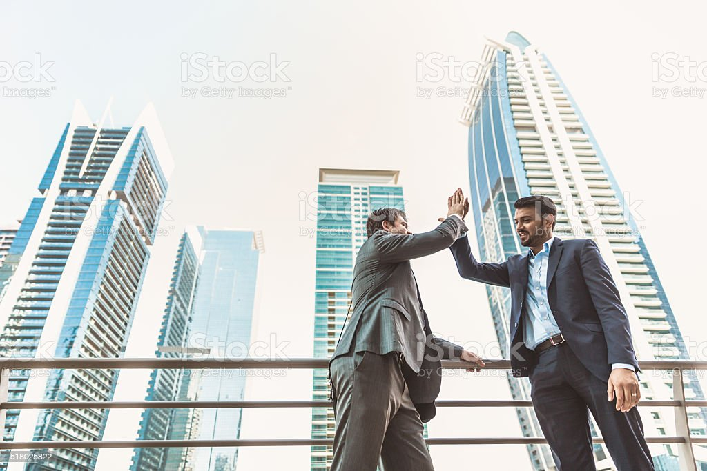 Employees Discussing Business stock photo