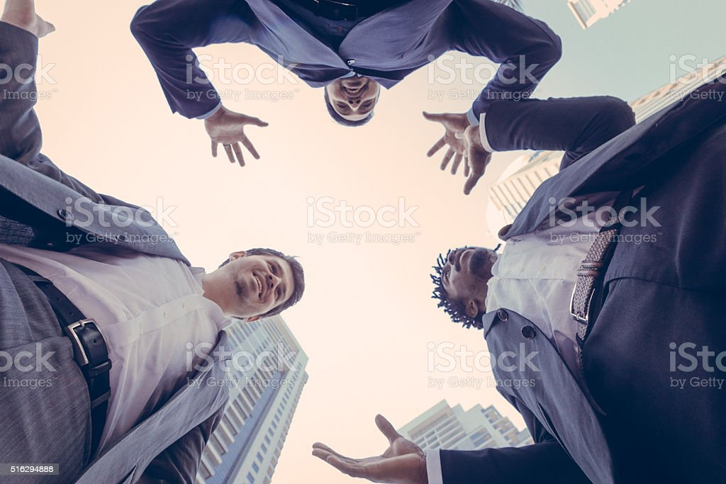 Employees Discussing Potential Business in Dubai stock photo