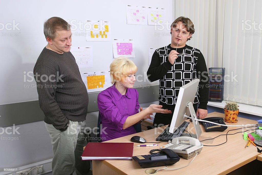 Employees of office royalty-free stock photo