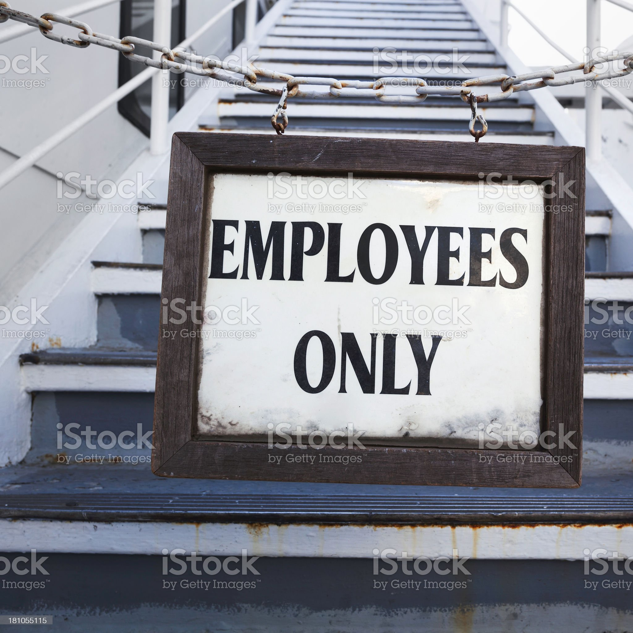 Employees Only sign royalty-free stock photo