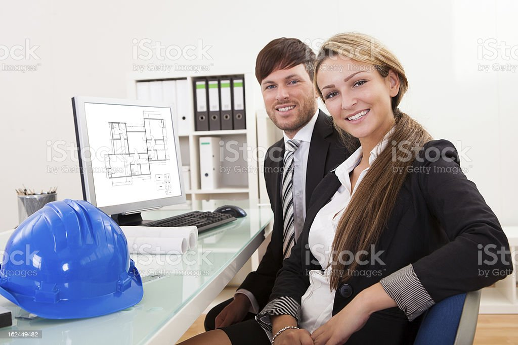 Employees took break from work royalty-free stock photo