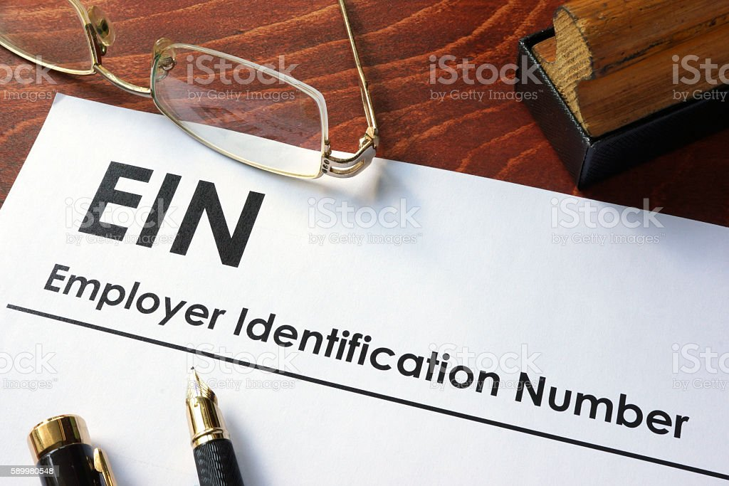 Employer Identification Number (EIN). stock photo