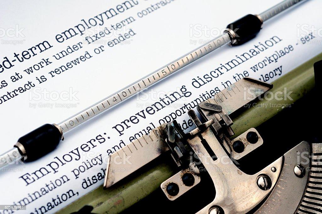 Employers preventing discrimination stock photo