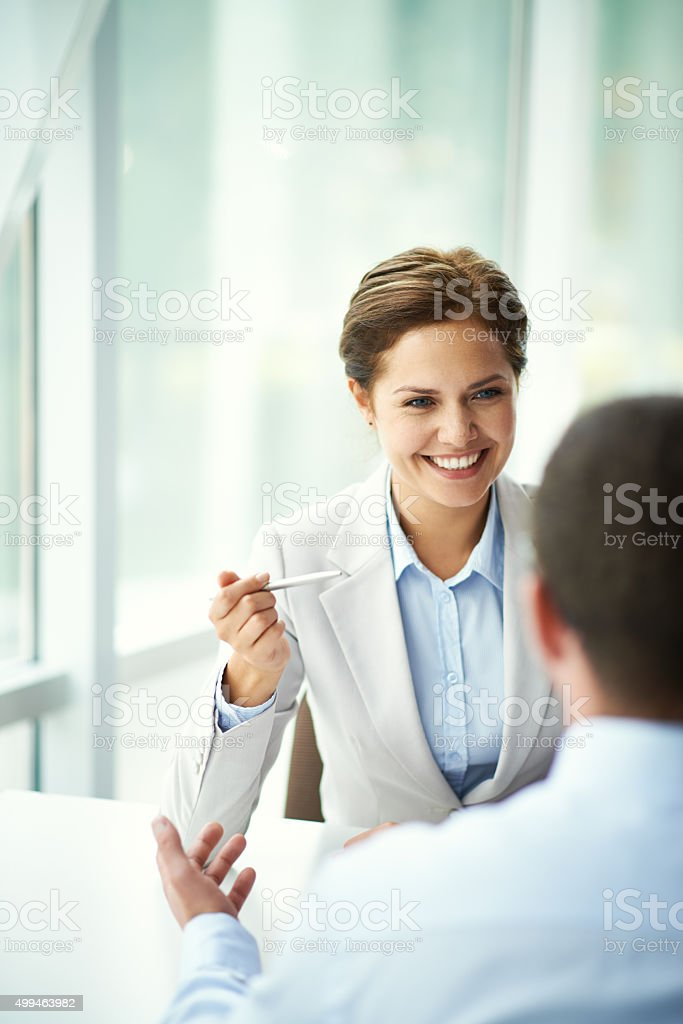 Employment agency stock photo