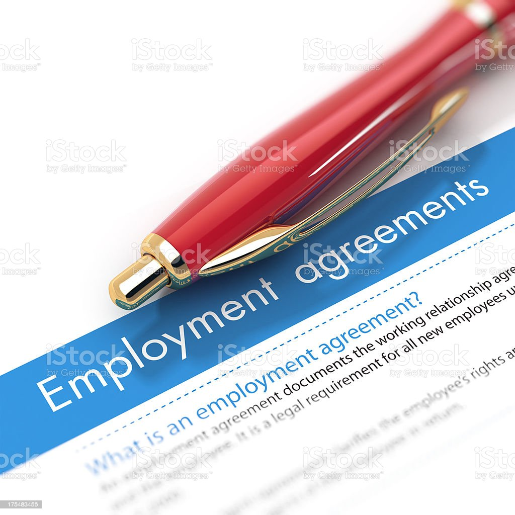 Employment Agreements stock photo