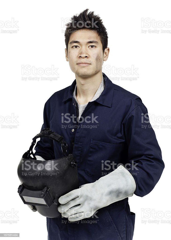 Employment & Jobs: Welder (Isolated) royalty-free stock photo
