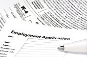 Employment application with W-4 form