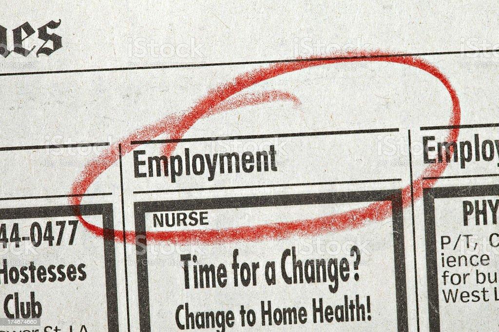 employment circled royalty-free stock photo