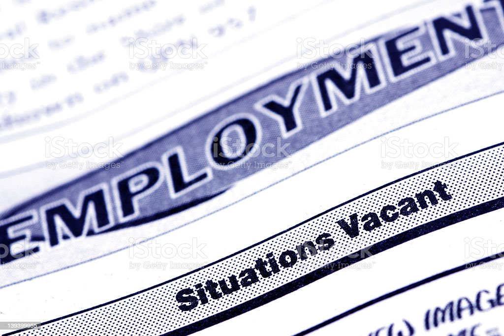 Employment Classifieds royalty-free stock photo