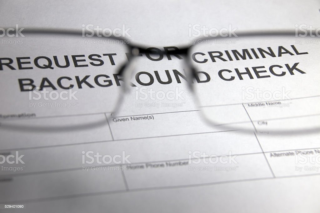 Employment - Criminal Background Check stock photo