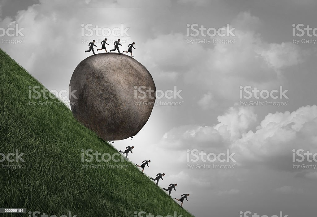 Employment Inequality Concept stock photo