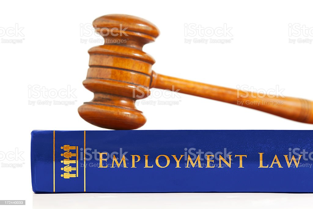 Employment Law Book stock photo