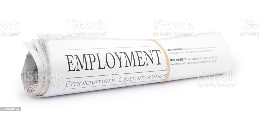 Employment Newspaper royalty-free stock photo