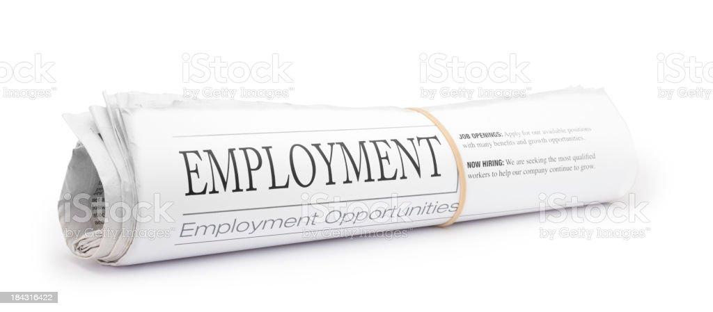 Employment Newspaper stock photo