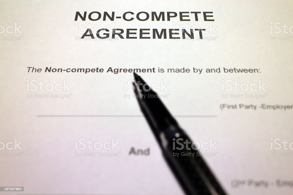 Employment Non compete Agreement stock photo