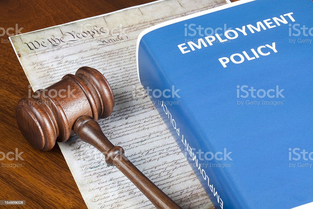 Employment Policy and Preamble stock photo