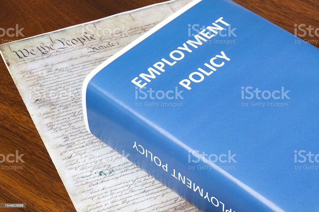 Employment Policy royalty-free stock photo