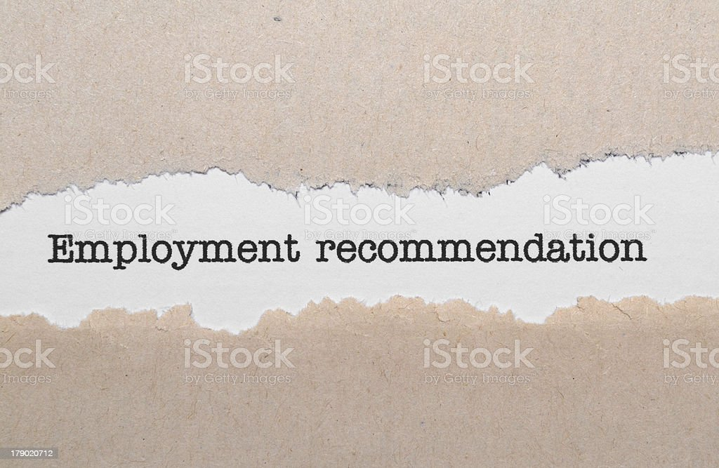 Employment recommendation royalty-free stock photo