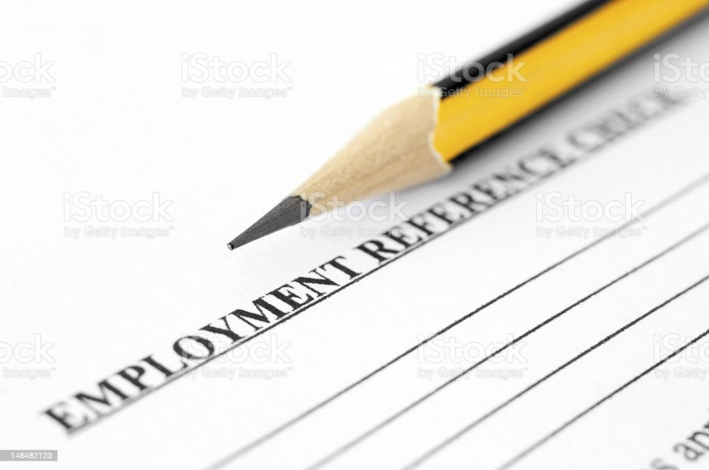 Employment reference check stock photo