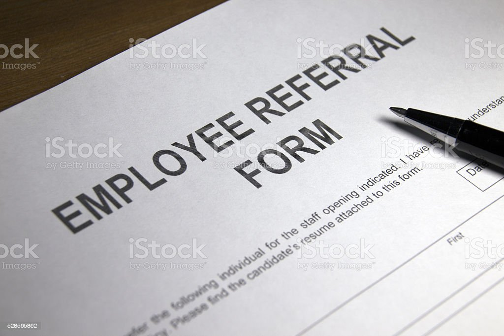 Employment Referral Application stock photo