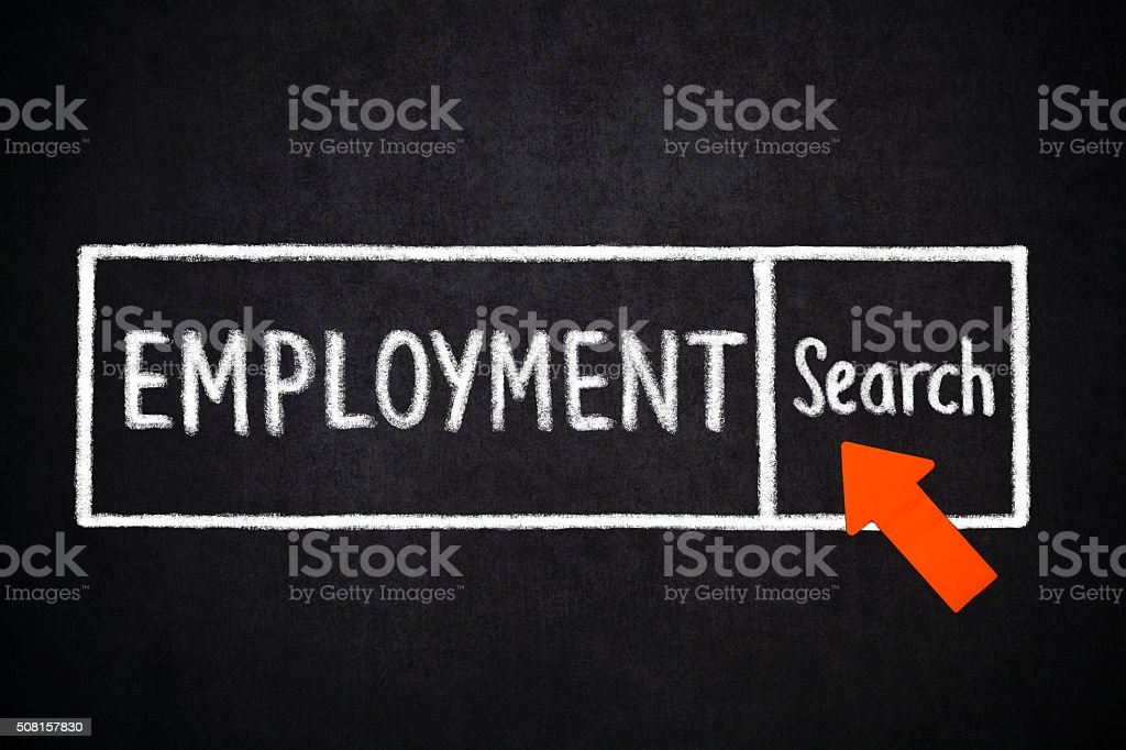 Employment- Search stock photo