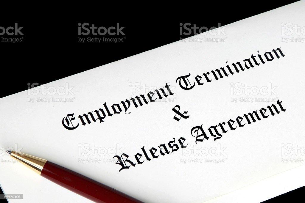 Employment Termination Agreement stock photo