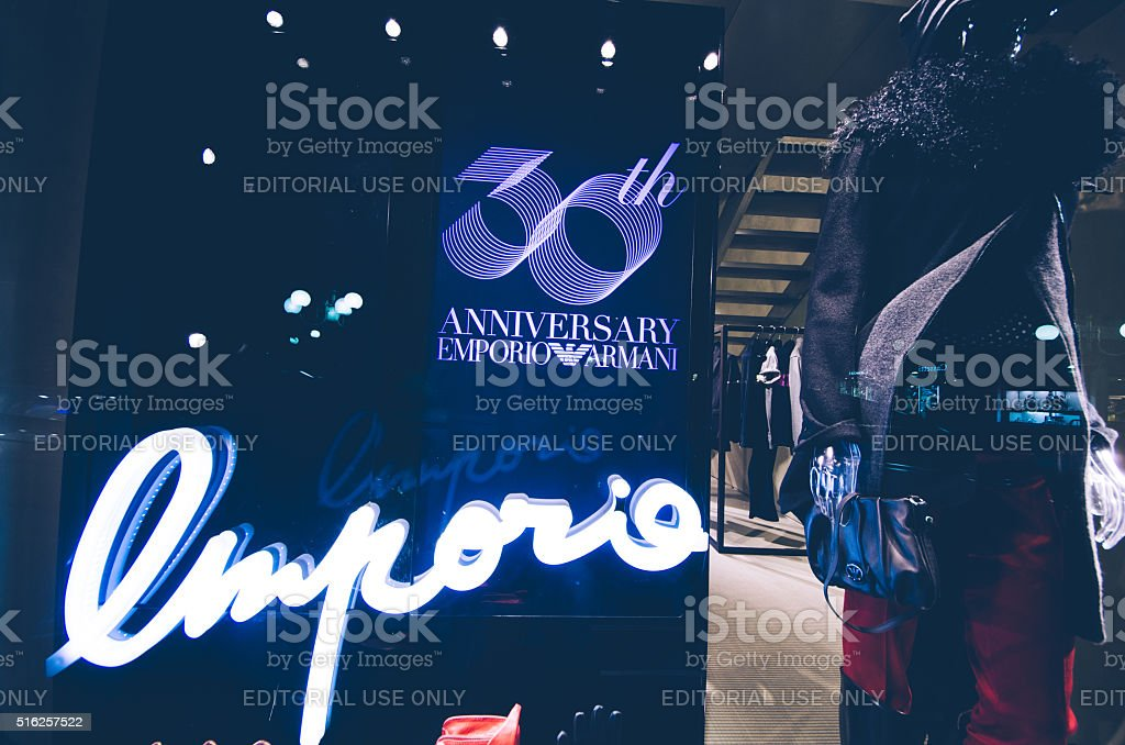Emporio Armani Shop stock photo