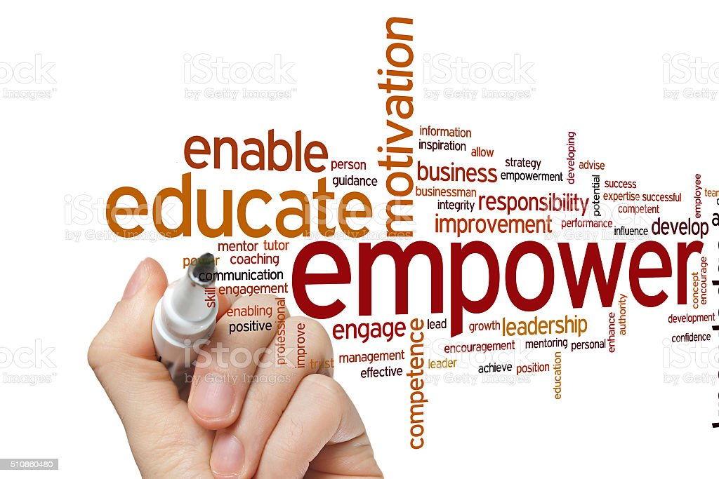 Empower word cloud stock photo